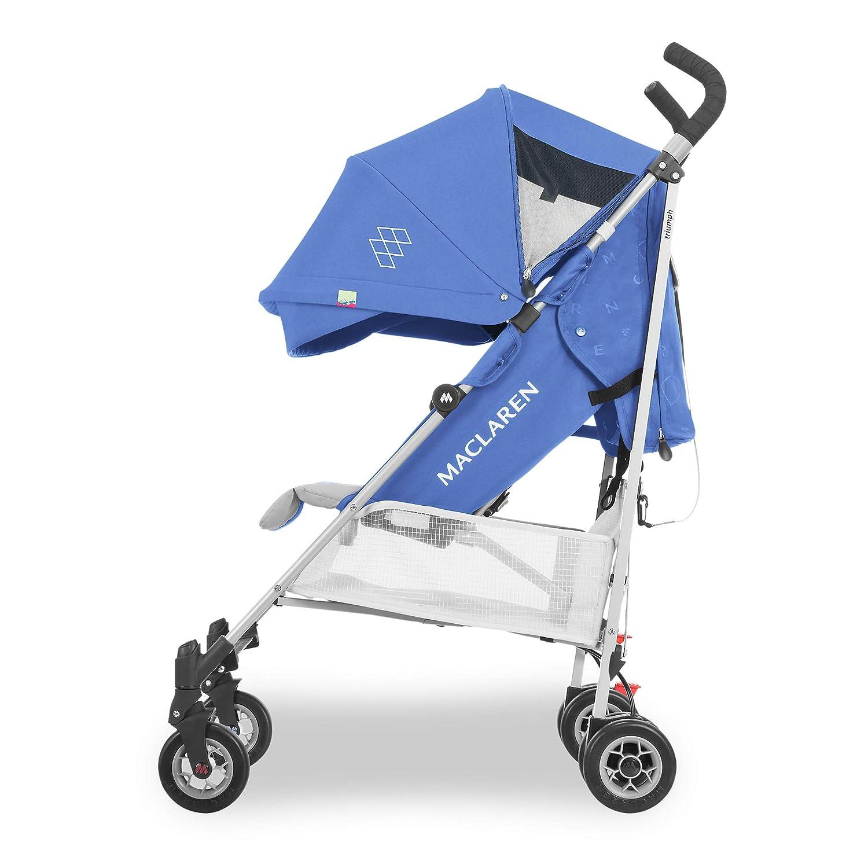 si/ège matelass/é lavable et inclinable peut supporter jusqu/à 25kg suspension aux 4 roues Housse de pluie incluse Capote extensible une protection UV50+ Poussette Maclaren Triumph- Ultra l/ég/ère