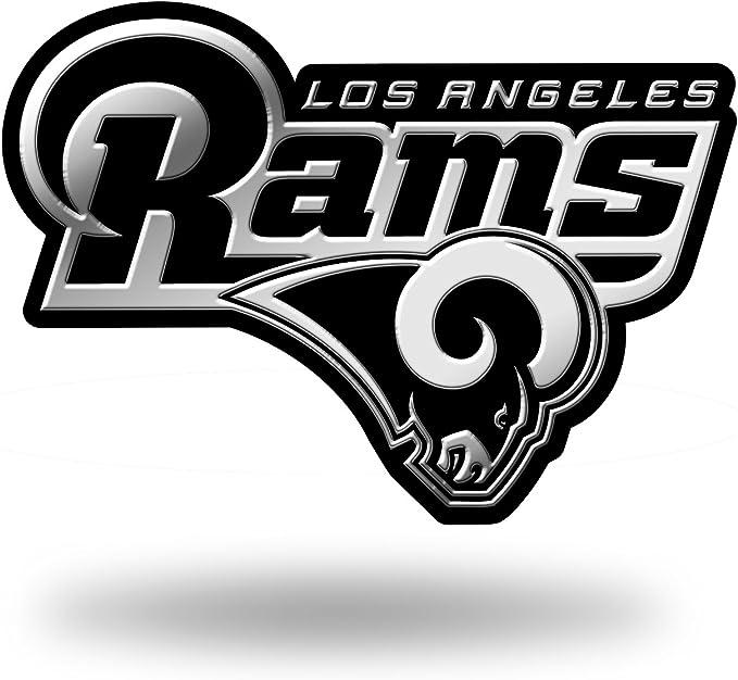 Rico Industries Nfl Los Angeles Rams Chrome Finished Car Emblem 3d Sticker Bekleidung