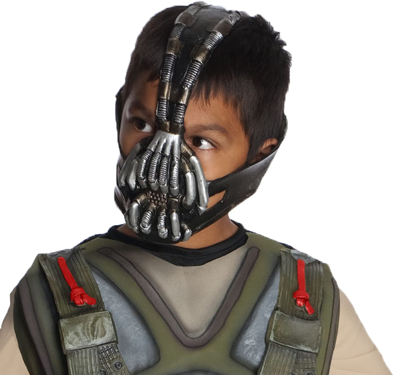 Amazon Com Batman The Dark Knight Rises Bane 3 4 Mask Child Size Black Toys Games
