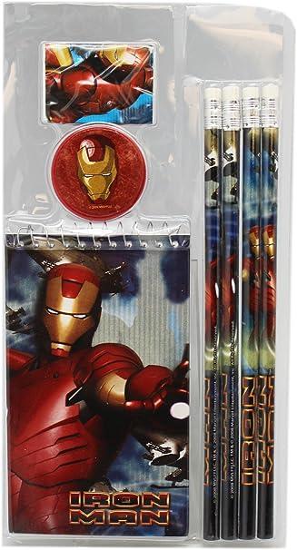 7 piezas Iron Man escuela papelería Value Pack: Amazon.es: Oficina ...