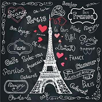 LFEEY - Pizarra de Pizarra con Texto en Inglés Paris para ...