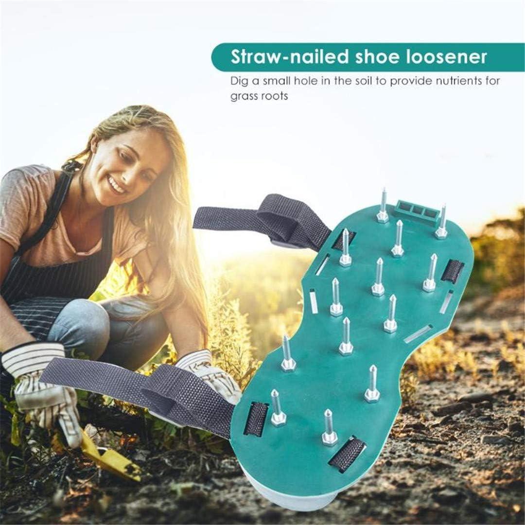 Césped aireador sandalias jardinería Planta de pintura autonivelante Zapatos de uñas Cemento Construcción escarificador de herramientas Ripper pastizales