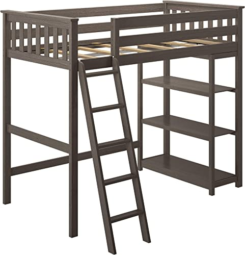 Max Lily Solid Wood Twin-Size High Loft Bed
