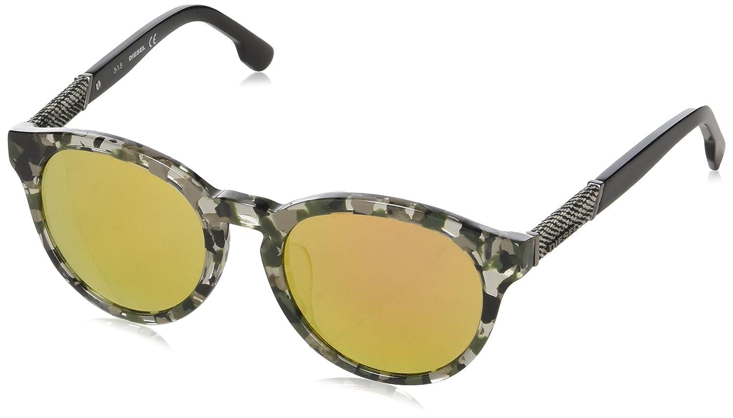 Diesel Round Eye, Gafas de Sol Unisex Adulto, Negro (Nero ...