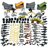 Taken All Custom Military Army Weapons and Accessories Set Compatible Major Brands ,Accessories - Hats, Weapons, Tools, Moder