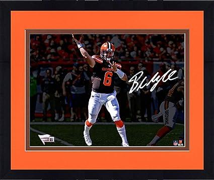 c9665e76 Framed Baker Mayfield Cleveland Browns Autographed 8