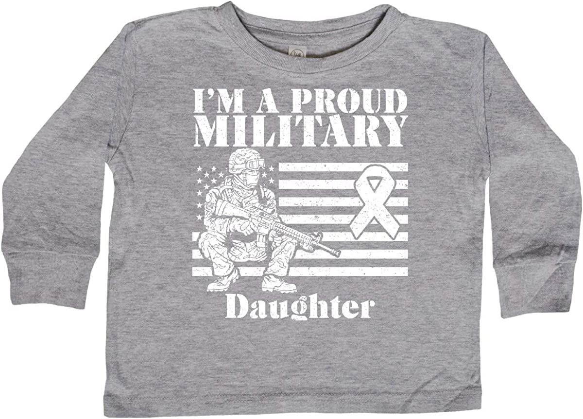 inktastic Proud Military Daughter Red Friday Toddler Long Sleeve T-Shirt