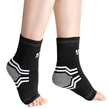 Plantar Fasciitis Socks with Arch & Ankle Support, OMorc Unisex Compression  Socks Feet Sleeves for Eases Swelling & Heel Spurs, Ankle Brace Support,
