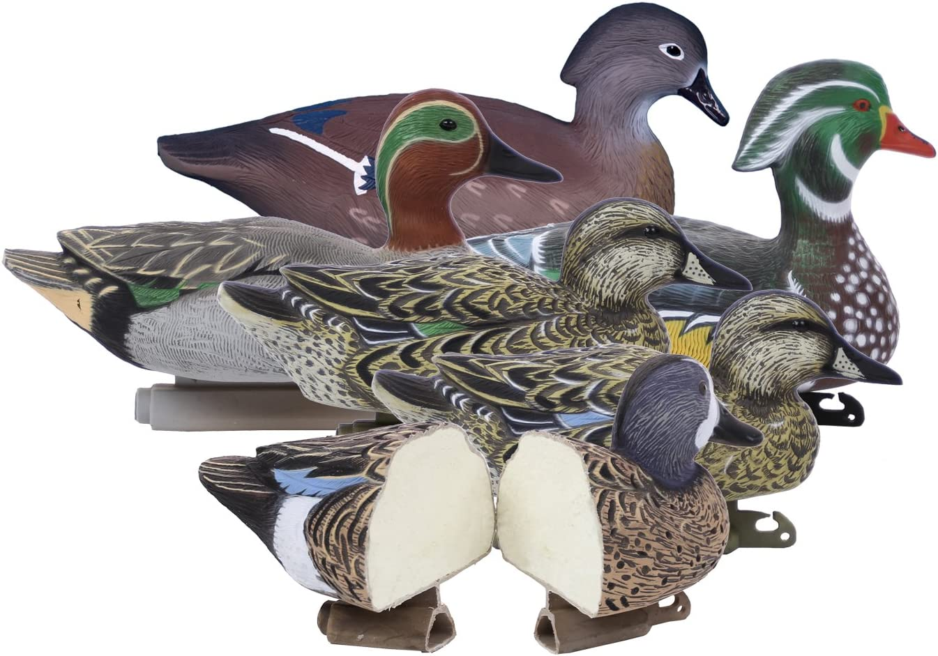 Higdon Outdoors Standard Puddle Pack Duck Decoys, Foam Filled…