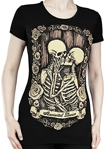 Restyle Immortal Lovers T–Camiseta, color negro
