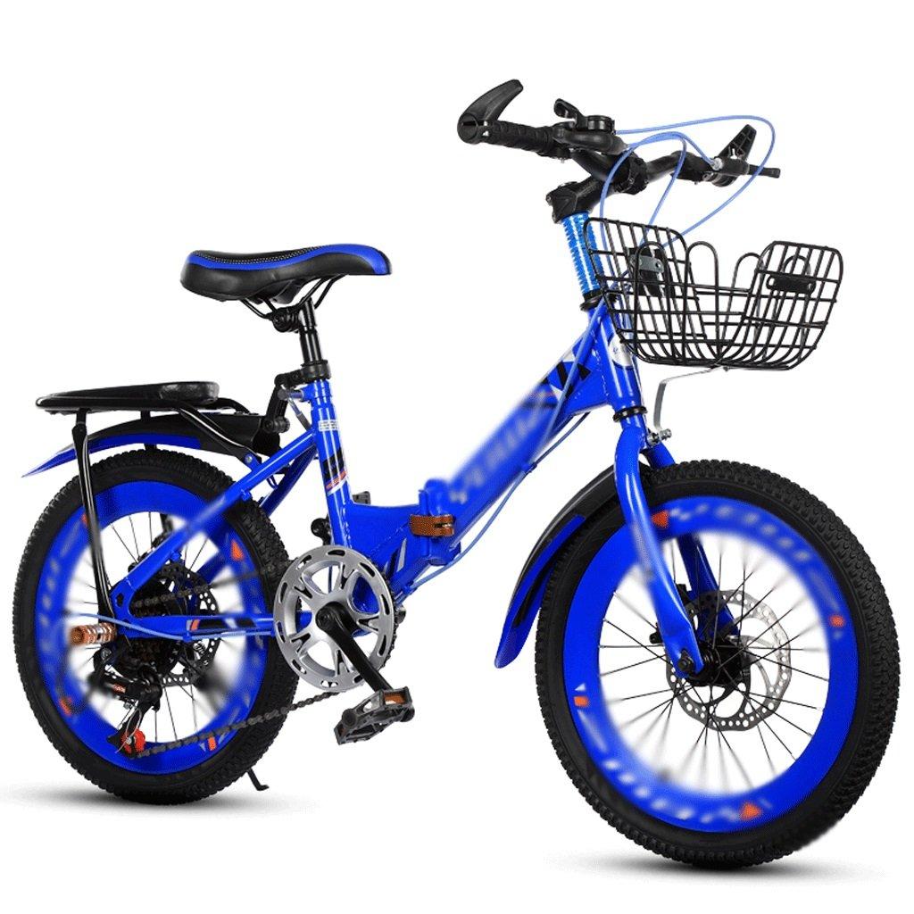 自転車 子供の自転車6-10-14歳の学生18-20インチのディスクブレーキポータブル折りたたみマウンテンバイク (サイズさいず : 18 inch) B07DPP2KH7 18 inch 18 inch