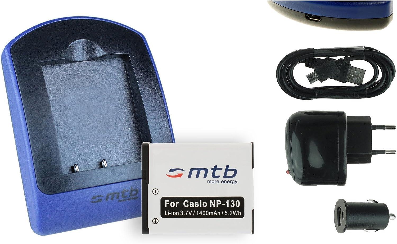 Akku Ladegerät Für Np 130 Casio Exilim Ex Fc300s Kamera
