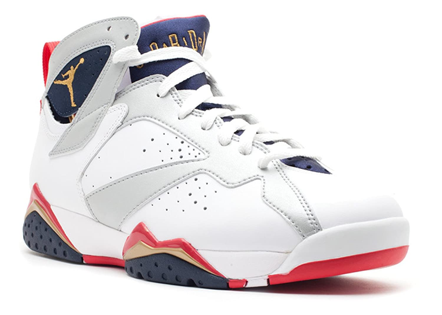promo code 4bf77 8c4a1 Amazon.com   Jordan Air 7 VII Retro Olympic Men s Basketball Shoes White Metallic  Gold Obsidian Red 304775-135   Basketball