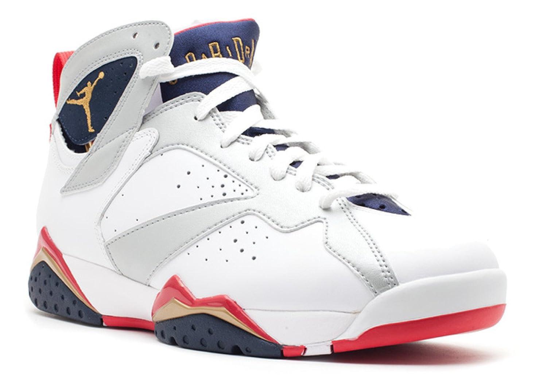 promo code a3562 5a659 Amazon.com   Jordan Air 7 VII Retro Olympic Men s Basketball Shoes White Metallic  Gold Obsidian Red 304775-135   Basketball