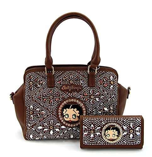 Betty Boop Monedero cartera Set, espejo piedras brillantes ...