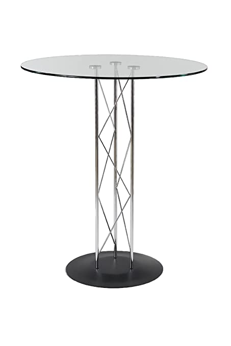 Genial Image Unavailable. Image Not Available For. Color: Eurø Style Trave Clear  Glass Round Top Bar Height Dining Table ...