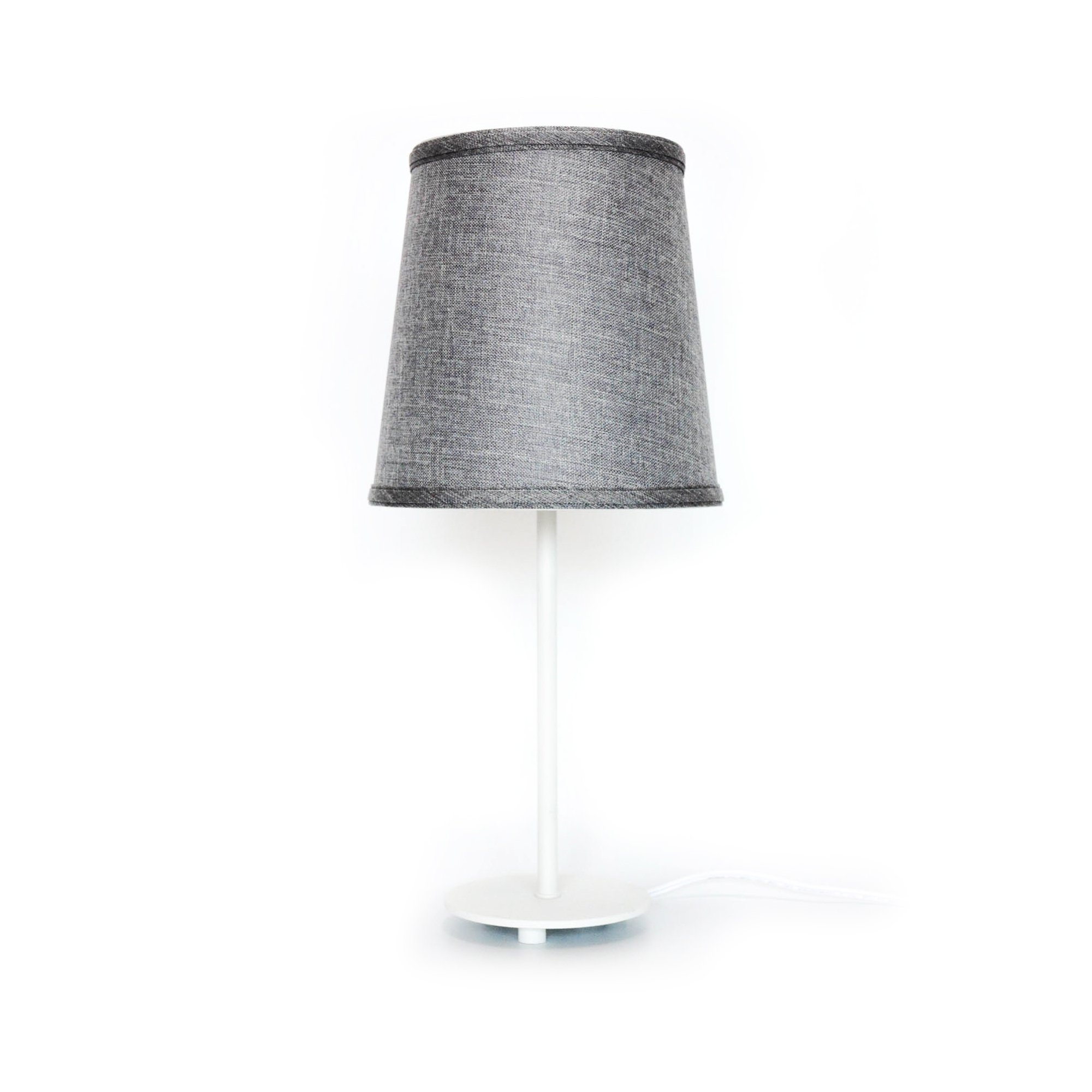 Sha.Tang-Modern Table Lamp Metal Base Fabric Lamp Shade Night Light for Living Room, Bedroom, College Dorm