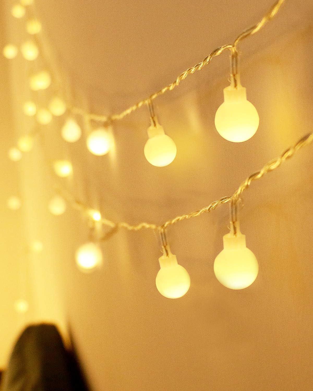 Kolpop Guirnalda Luces Led, 8M 80 LED Guirnaldas 8 Modos Led Luces, Luces Led Decorativas Guirnalda Led Pilas Decoracion Pilas para Exterior, Interior, Jardines, Casas, Boda, Fiesta de Navidad