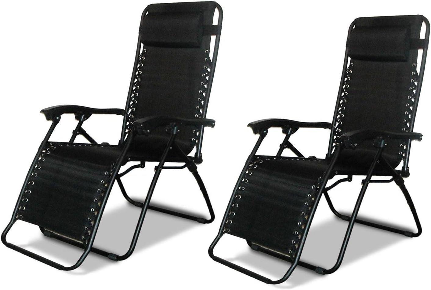DNY 2 x Textoline Reclining Garden Chair