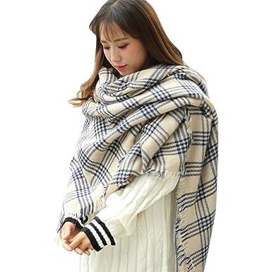 Grande écharpe femme carreaux - Idée pour s habiller 81811b3b446