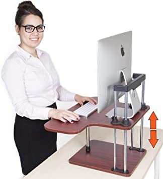 Amazon Com Uptrak Standing Desk By Stand Steady Cherry Single