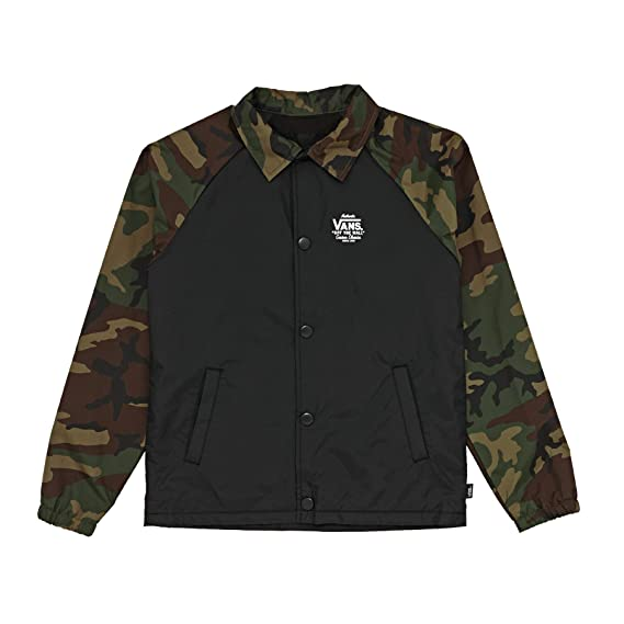 b04b8cc40679a8 Vans Torrey Boys Jacket X Large Black Camo  Amazon.co.uk  Clothing