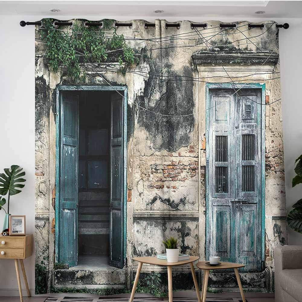 XXANS Cortinas de Puerta corredera, rústico, aldaba de Puerta en Puerta Vintage, Decoraciones de Espacio,: Amazon.es: Hogar