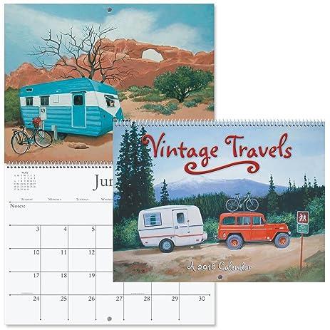 travel trailers calendar Vintage