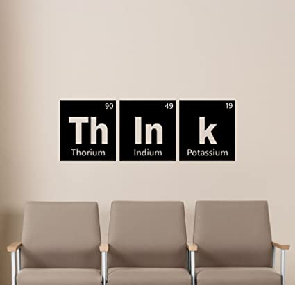 Think Periodic Table Of Elements Wall Decal Science Education