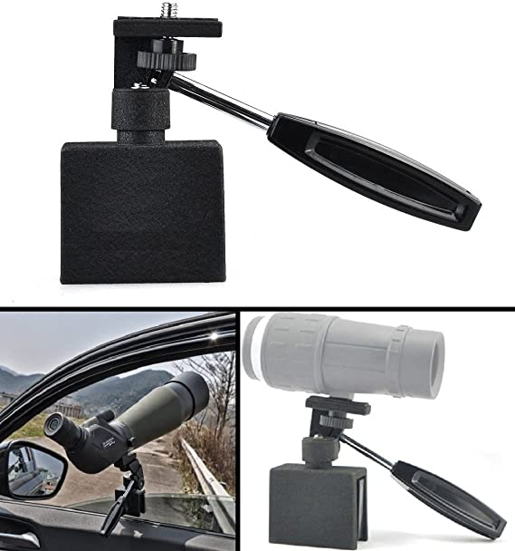 Ultimate Arms Gear Spotting Scope Binoculars Camera Hunting Surveillance Adjustable Vehicle Car Window Mount