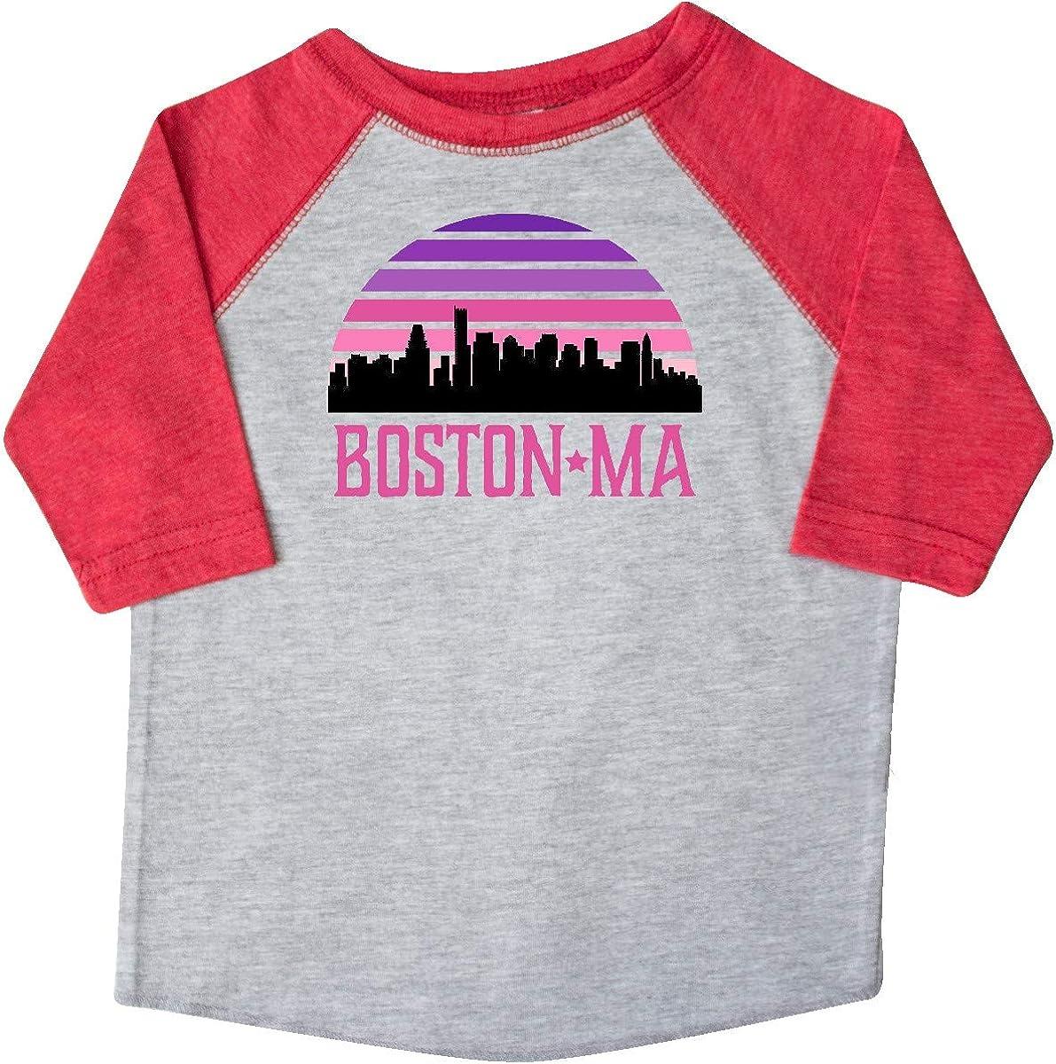 inktastic Boston Gifts for Kids Retro Skyline Toddler T-Shirt