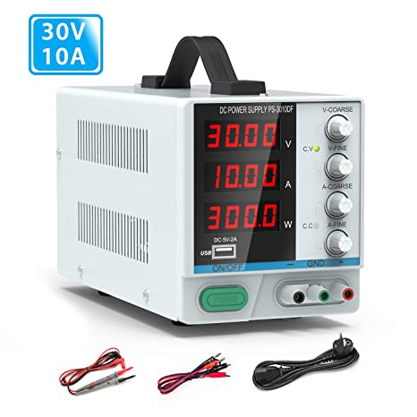 Digital Netzteil Regelbares Netzgerät DC Power Supply 32V 5A mit Kabel