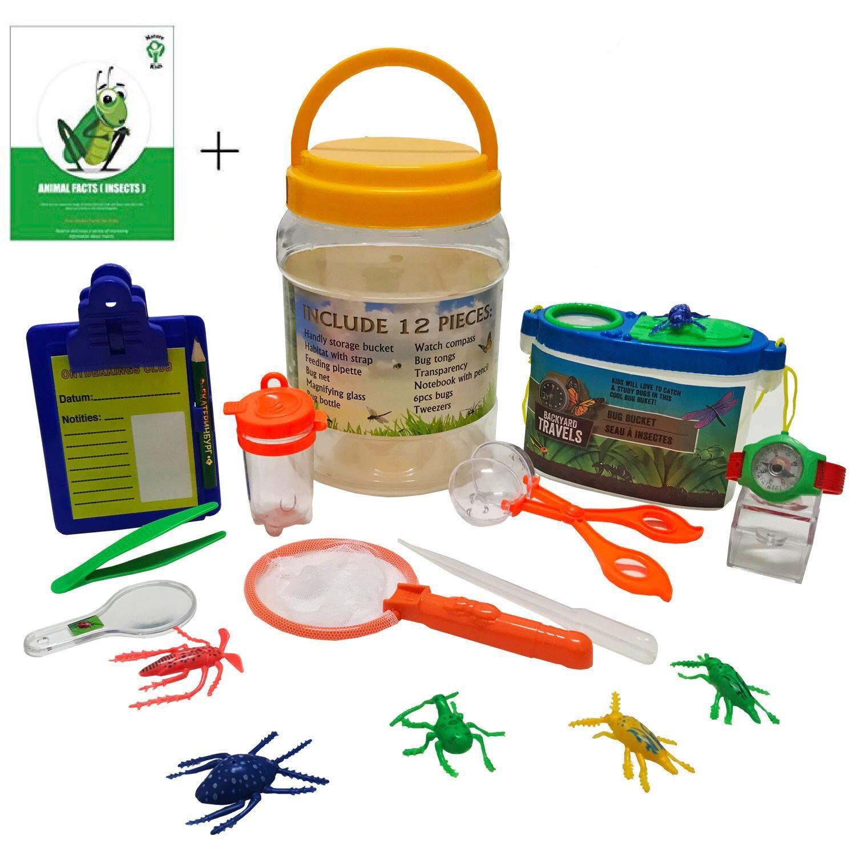 Adventure Kids - Bug Catcher, Habitat Bucket, Tongs, Magnifier, eBook & More – Educational, Imaginative & Creative Toys. Explorer Kit Great Kidz Gift Set For Birthday, Camping, Nature & Backyard Fun