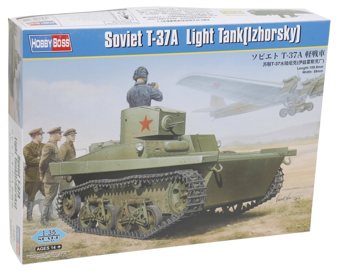 Hobbyboss 1 35  Soviet T37b Amphibious Light Tank