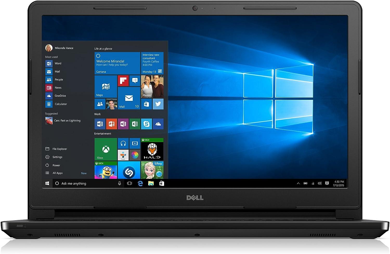 "Dell Inspiron 15 3000 i3552-4042BLK Laptop (Windows 10, Intel Celeron N3050, 15.6"" LED-lit Screen, Storage: 500 GB, RAM: 4 GB) Black"