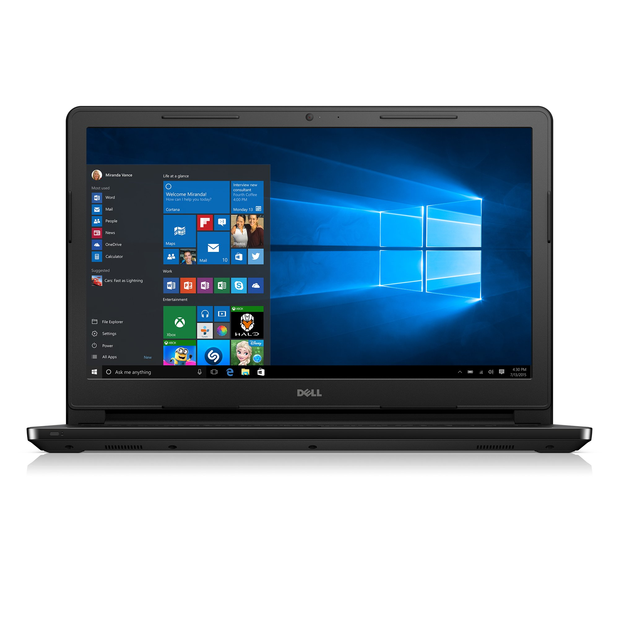 Dell Inspiron i3552-4042BLK 15.6 Inch Laptop (Intel Celeron, 4 GB RAM, 500 GB HDD, Black) by Dell