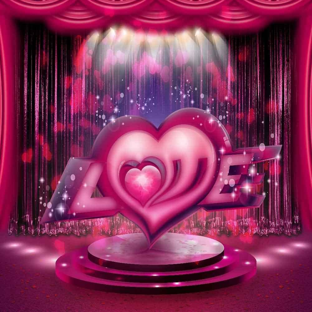 GladsBuy Love Stage 10 x 10 Computer Printed Photography Backdrop Valentines Day Theme Background LMG-262