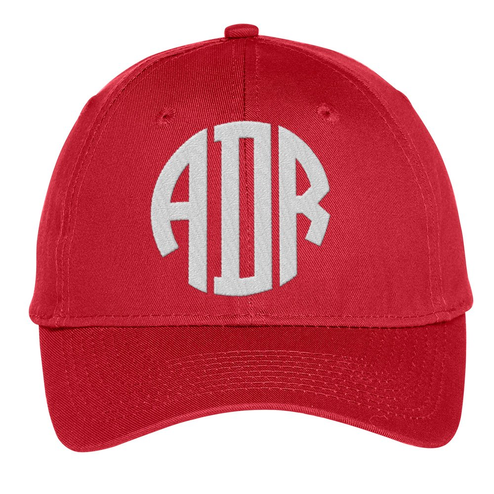 Custom Monogram Baseball Cap, Embroidered Personalized Hat with Initials, Color Choices!
