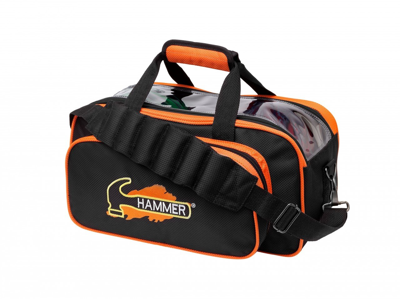 Hammer Double Bowling Ball Tote, Black/Orange by Hammer