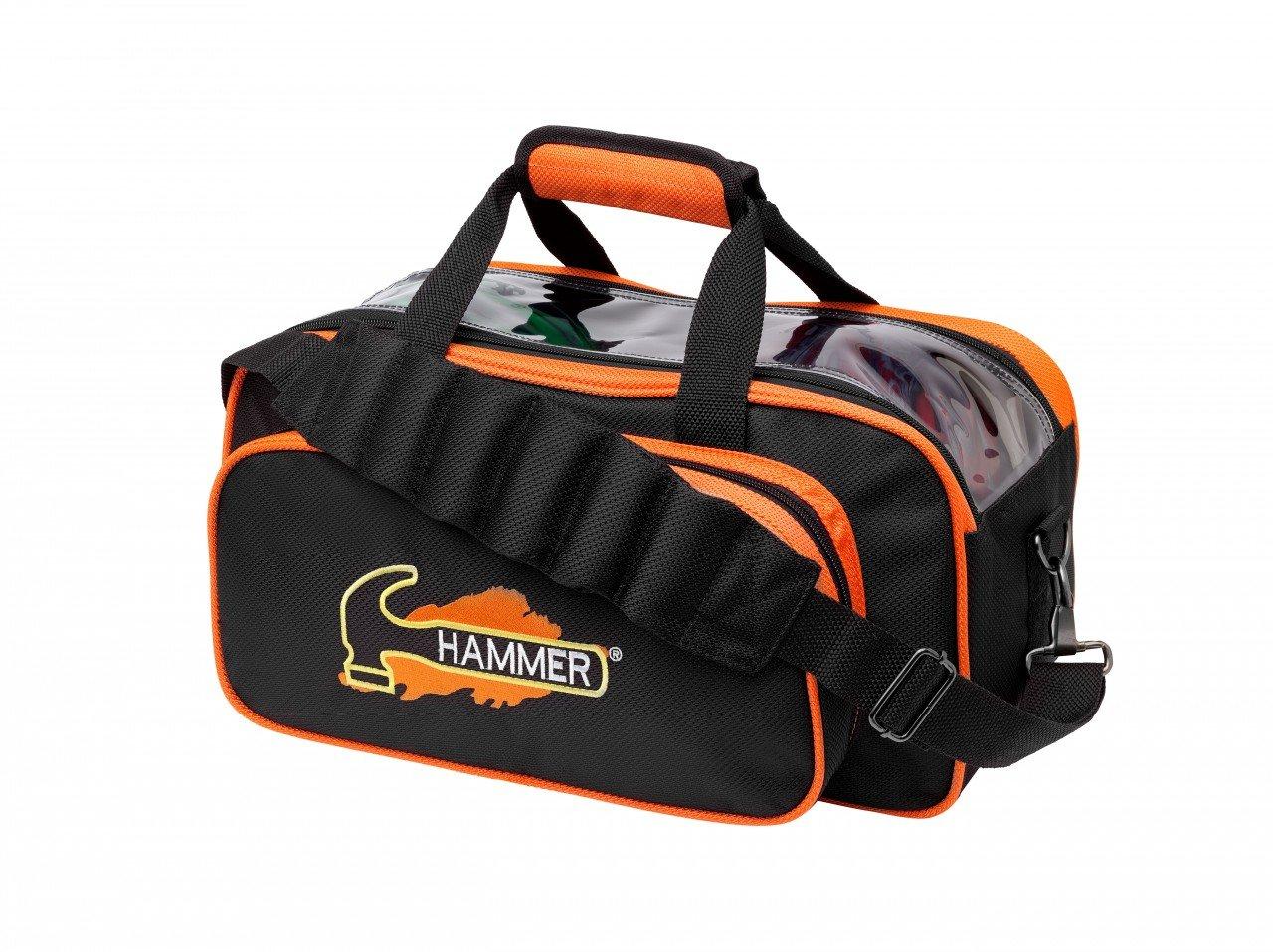 Hammer Double Bowling Ball Tote, Black/Orange