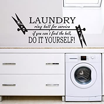 Perfect Vu0026C Designs Ltd (TM) Laundry Room Self Service Kitchen Or Utilities Wall  Sticker Wall Part 8
