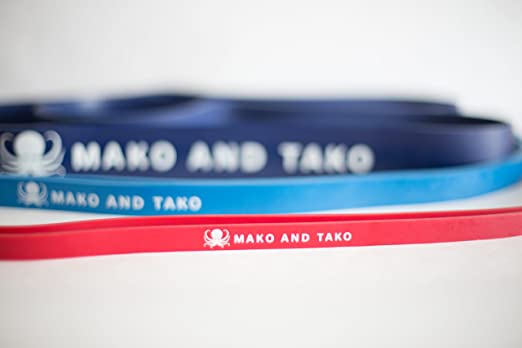 Resistance Band by Mako and Tako  Powerlifting  Mobility  Stretching  Crossfi... Crosstrainer Fitness & Jogging