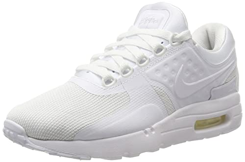 Nike Men's Air Max Zero Essential Low-Top Sneakers, White (White/White