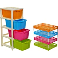 Joyful Studio 5 XL(Extra Large), Modular Drawer Made of Virgin Plastic for Home, Office, Parlor, School, Doctors and Kids, Product Dimension When assembeled (31cmx39cmx98 cm)