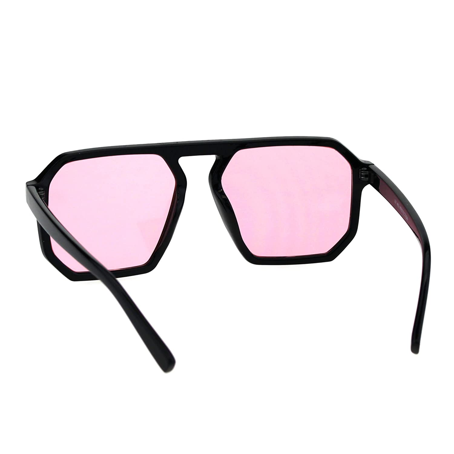 Mens Robotic Futuristic Racer Plastic Retro Pop Color Lens Sunglasses