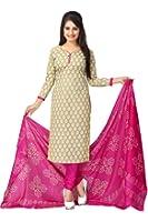 Vaamsi Women's Salwar Suit Dress Material (Deep1023_Green_Free Size)