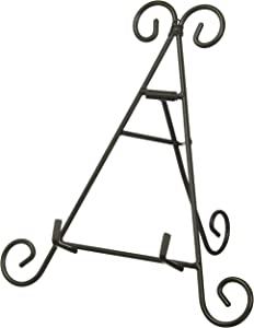 "Super Z Outlet 9"" Black Iron Tall Adjustable Display Stand Curve Design for Home Decoration, Photo Picture Albums, Arts & Crafts Showcase, Fine China Plates"