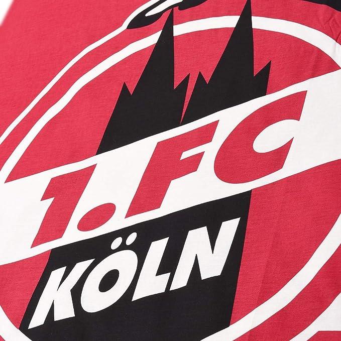 1 FC Köln Bettwäsche grau//weiß gestreift 135x200cm