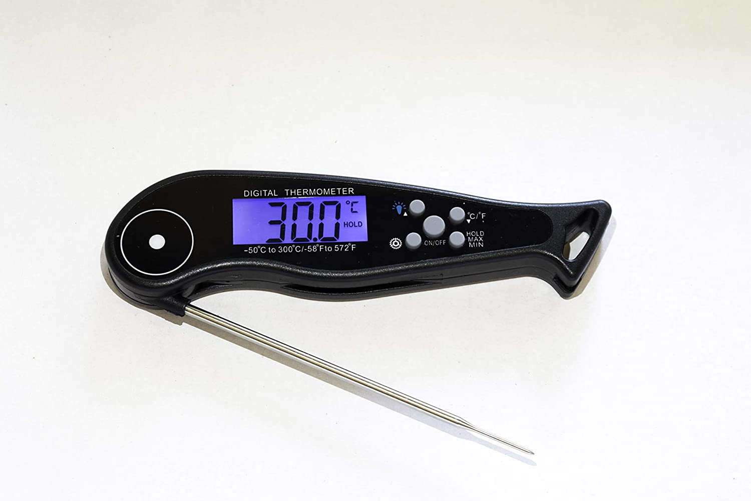 Slyway Instant Reading Digital Meat Thermometer Wireless for Cooking Grill Smokers Backlit Food Thermometer with Long Probe and Timer Strong Magnet and Waterproof