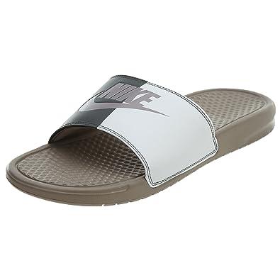 da4f61b0860b81 Nike Men s s Benassi JDI Beach   Pool Shoes Black Sepia Stone Summit White  ...